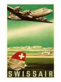 Swissair : affiche vintage de la compagnie aérienne Affiches