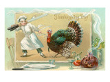 Chef Leading Turkey Poster