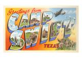 Greetings from Camp Swift, Texas Premium gicléedruk