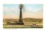 Oil Gusher, Amarillo, Texas Prints