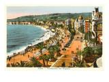 English Promenade, Nice, France Plakat