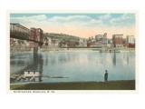 Wolkenkratzer, Wheeling, West-Virginia Poster
