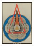 Représentation géométrique d'Om Mani Padme Hum Mantra Reproduction giclée Premium