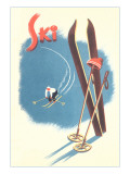 Poster for Skiing Julisteet