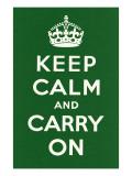 平静そして続行/Keep Calm and Carry On ポスター