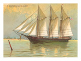 Three-masted Schooner Poster