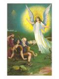 Angel Greeting Shepherds Prints