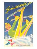 Grindelwald Ski Resort, Graphics Posters
