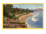 Strand bei Montecito, Santa Barbara, Kalifornien Kunstdruck