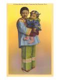 Madre e hijo en Chinatown, San Francisco, California Pósters