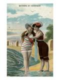 Old Time Bathing Beauties, Coronado, California Poster