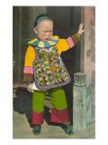 Niño en el barrio chino, San Francisco, California Láminas
