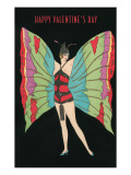 Happy Valentine's Day, Butterfly Woman Stampe