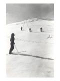 Skiers Making Tracks Print