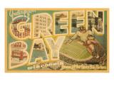 Saluti da Green Bay, Wisconsin Poster
