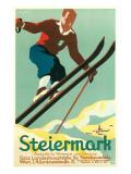 Steiermark Ski Poster Print