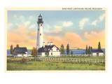 Wind Point Lighthouse, Racine, Wisconsin Kunstdrucke