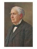 Retrato de Thomas Edison Pósters