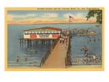Starlight-Pavillon and Pier, Fairview Beach, Virginia Poster