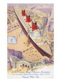 RMS Queen Mary auf dem Trafalgar Square Poster