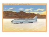 Racer, Bonneville Salt Flats, Utah Posters