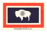 Wyoming State Flag Posters