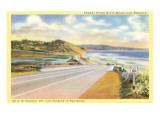 Highway 101 nella California meridionale Stampa
