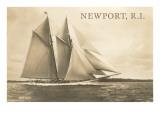 Gaff-Rigged Schooner, Newport, Rhode Island Posters