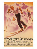 St. Moritz Ski Run, 1928 Posters