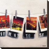 From NY To SF Stretched Canvas Print by Vincent Gachaga