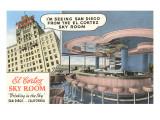 Sky Room, El Cortez Hotel, San Diego, California Pósters