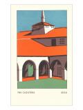 The Cloisters, SDSU, San Diego, California Poster