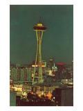 Night, Space Needle, Seattle, Washington Poster