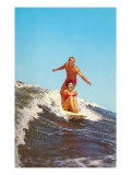 Couple Surfing Prints