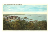 Burlington Harbor on Lake Champlain, Vermont Poster