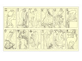 Svelte Woman Demonstrating Zodiac Signs Art