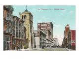 Mission Street, San Francisco, Kalifornien Poster