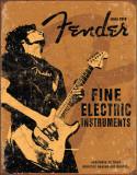 Gitaarreclame Fender, Rock On Metalen bord