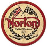 Norton - rundes Logo, Englisch Blechschild