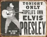 Elvis - Tupelo's Own Plaque en métal