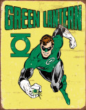 Green Lantern Retro Placa de lata