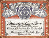 Budweiser - Weathered Blechschild