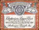Budweiser - Weathered Metalen bord