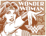 Wonderwomen - Duotone Blechschild