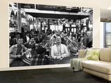 Subway Series: Rapt Audience in Bar Watching World Series Game from New York on TV Poster géant XXL par Francis Miller