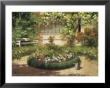 Sunlit Flower Garden Prints by Laszlo Neogrady