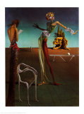 Frau mit Rosenhaupt Kunstdrucke von Salvador Dalí