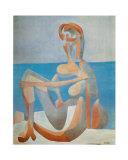 海辺に座る女1930 アート : パブロ・ピカソ