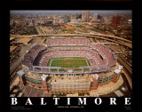 Baltimore - First Opening Day at Raven Stadium Print by Mike Smith