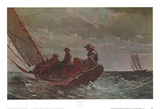 Breezing Up Posters por Winslow Homer